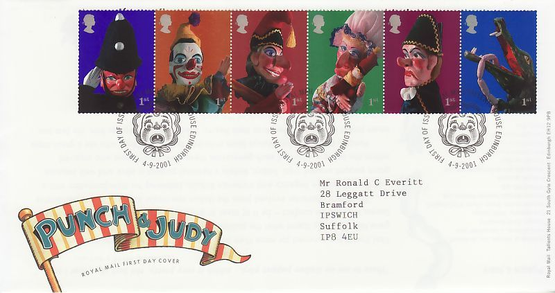 Punch & Judy First Day Cover