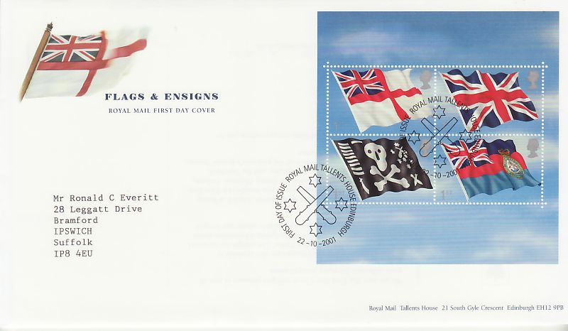 Flags & Ensigns First Day Cover