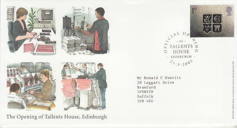 Tallents House Souvenir Cover