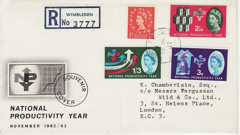 National Productivity Year First Day Cover